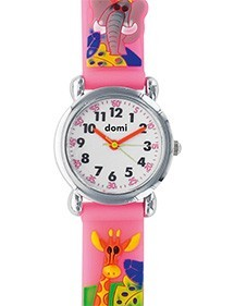 DOMI educational watch, giraffe pattern, pink synthetic bracelet 753952 DOMI 39,90 €