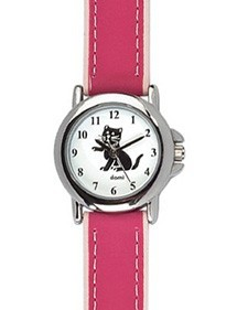 DOMI educational watch, cat pattern, pink synthetic bracelet 754896 DOMI 39,90 €