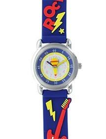 """Children's watch """"Rock Guitar"""" metal case and dark blue silicone strap 753982 DOMI 29,90€"""