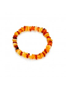 Elastic bracelet all Amber multi-colors with ambrine screw clasp 31812805 Nature d'Ambre 32,90 €