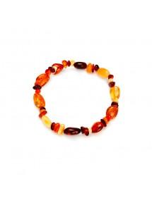 Amber elastic bracelet of various shapes 31812568 Nature d'Ambre 26,00€