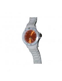 Montre Sport Unisex - blanche et orange