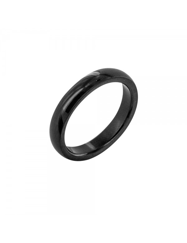 Black ring in plain steel - Diameter 58 311124858 One Man Show 21,00 €