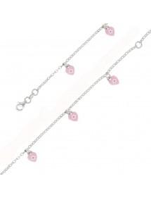 Bracelet coeur rose Argent 925/1000