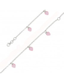 Bracelet en argent rhodié pour enfant avec des cœurs 46,00€ 46,00€