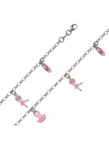 Silver bracelet rhodium with tutu, dancer and ballerina 46,00 € 46,00 €