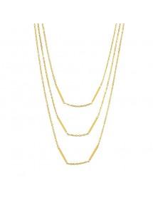 Women's 3-row necklace in golden steel 317084D One Man Show 34,90€