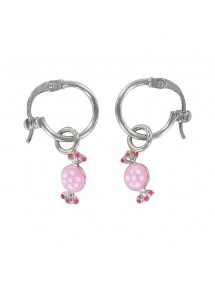 Earrings rhodium silver pendant with candy 313290 Suzette et Benjamin 34,00 €
