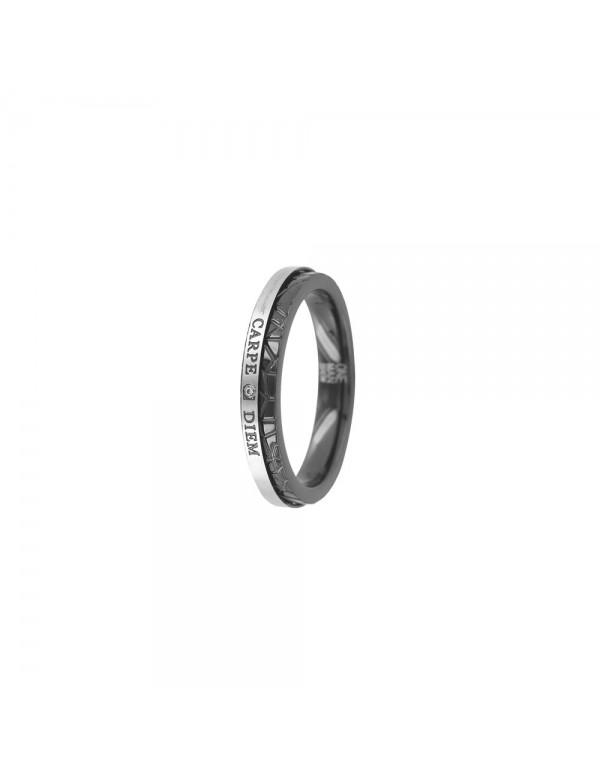 Carpe Diem mixed steel ring - Diameter 68 311474N68 One Man Show 29,90€