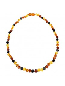Necklace in cognac, honey and cherry amber stones 31710476 Nature d'Ambre 99,90 €