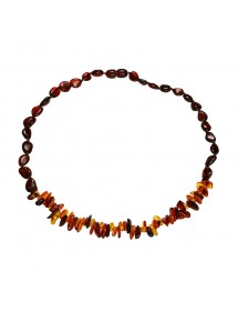 Amber necklace in cherry, cognac and honey color with screw clasp 31710742 Nature d'Ambre 54,90€