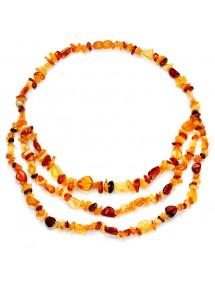 Amber necklace multi-colors 3 rows, screw clasp 31710739 Nature d'Ambre 109,90€