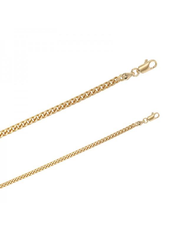 Gold plated curb link bracelet 328021 Laval 1878 55,00€