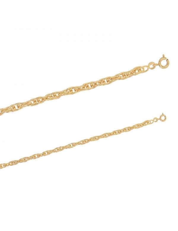 Rope link bracelet in Gold plated - 19 cm 328020 Laval 1878 49,90€