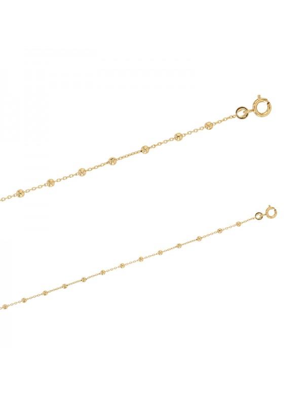 Gold-plated cable knit bracelet - 18 cm 328036 Laval 1878 19,90€