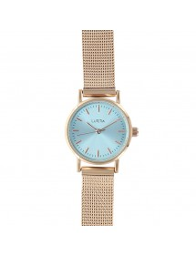 Lutetia watch with pink gold Milanese strap, sky blue dial 750145DRT Lutetia 59,90 €