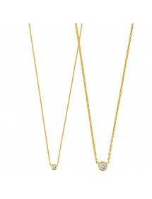 Gold plated round necklace with zirconium oxide 327135 Laval 1878 49,90 €