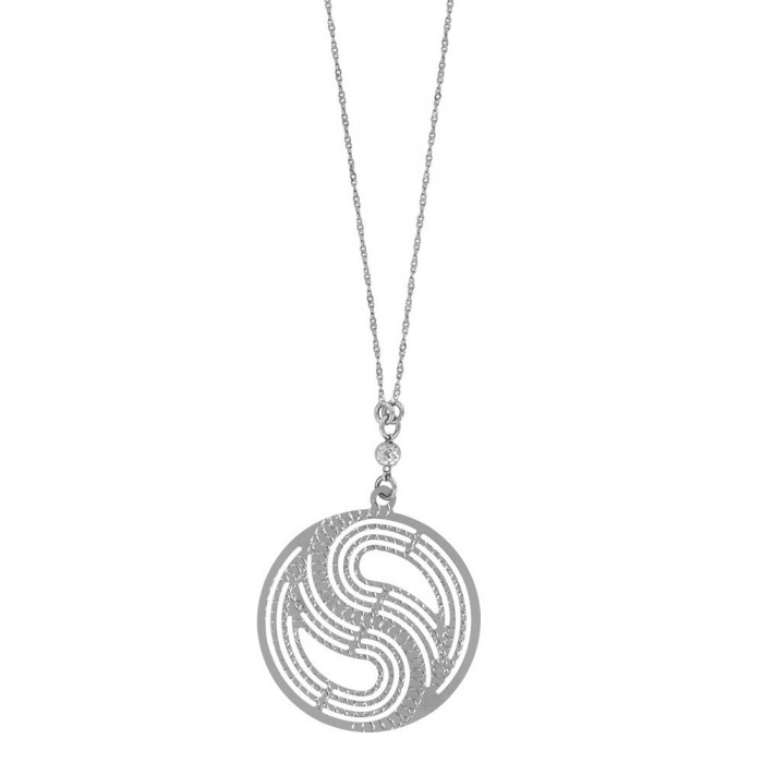 Fancy round rhodium silver necklace 3171019 Laval 1878 46,90€