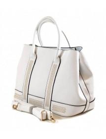 Leather effect handbag Tom&Eva - White 55,00€ 33,00€