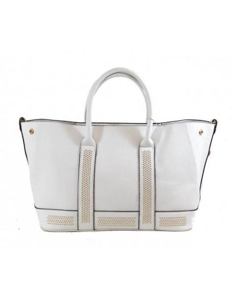 Leather effect handbag Tom&Eva - White 6338-White Tom&Eva 56,00€