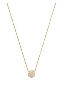 Gold plated necklace ball and zirconium oxides 327156 Laval 1878 69,90 €