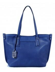 Sac à main cabas avec surface perforé Tom&Eva - Bleu 15A-515-Blue Tom&Eva 42,00€