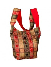 Besace indienne Pachwork rouge 100% coton 18,90€ 9,45€
