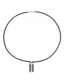 Collar de cordón de cuero y colgante de acero 31710238 One Man Show 54,00€