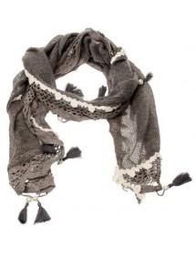 Echarpe hiver grise et blanc 180 x 40 cm 17,90€ 8,95€