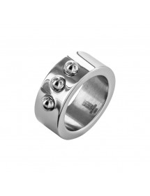 Steel ring with 3 small balls 3111269 One Man Show 18,90 €