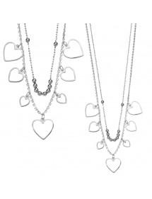 Collana a cascata cuore in argento rodiato 49,90€ 32,90€