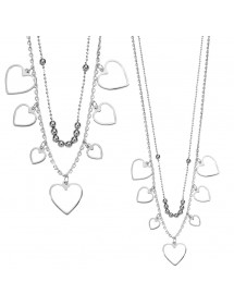 necklace hearts Silver 925/1000 and rhodium 56,00€ 39,00€
