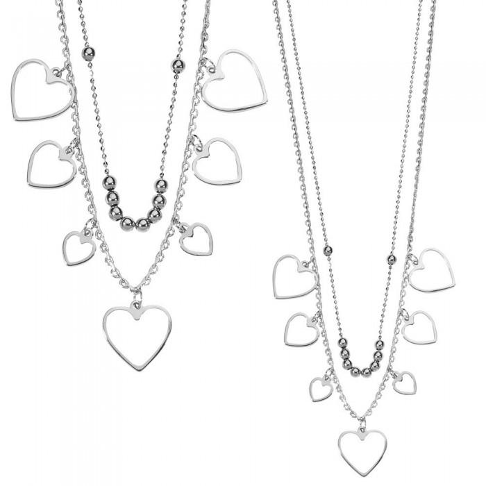 Collier avec cascade de cœurs en Argent rhodié 49,90€ 32,90€
