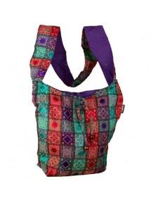 Besace indienne Pachwork violet 100% coton 18,90€ 9,45€