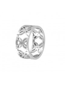 Openwork steel ring with flower pattern 311471 One Man Show 24,00 €