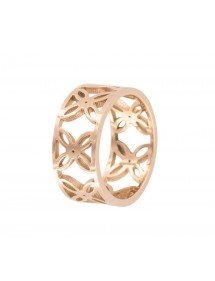 Pink openwork steel ring with flower pattern 24,00 € 24,00 €