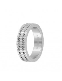 Steel ring with engraved patterns and cable 311490 One Man Show 32,00 €