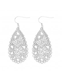 Earrings pattern steel openwork butterfly 3131361 One Man Show 33,00 €