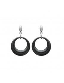 Boucles d'oreilles acier et céramique noir 36,00€ 36,00€