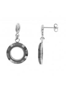 Boucles d'oreilles pendantes acier et céramique 34,90€ 34,90€