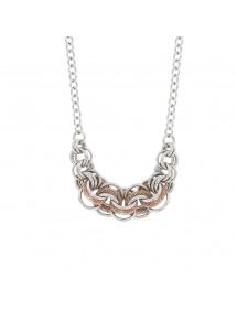 Collier anneaux entrelacés acier et ronds en maille argent/doré rose 79,90€ 79,90€