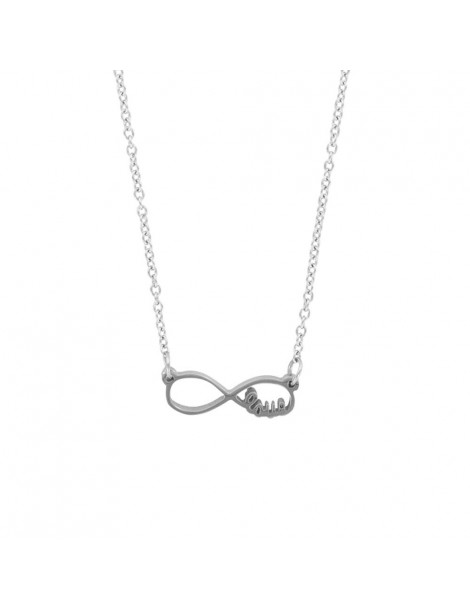 """Infinite necklace """"love"""" steel 31710261 One Man Show 39,90€"""