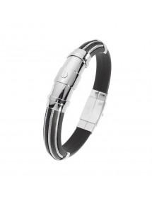 Bracelet caoutchouc avec câble acier, fermoir en acier 3180116 One Man Show 49,90€
