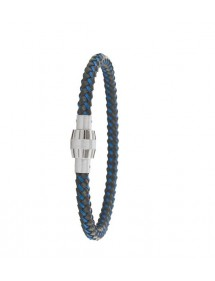 Bracelet steel and leather One Man Show 31812305 One Man Show 57,00 €