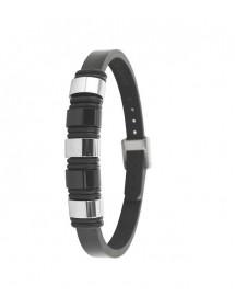 Bracelet en cuir d'équin avec éléments en acier 31812310 One Man Show 65,00€