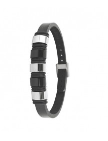 Bracelet steel and leather One Man Show 31812310 One Man Show 65,00 €