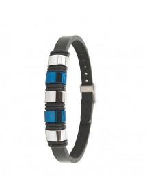 Bracelet en cuir d'équin avec éléments en acier One Man Show 31812311 One Man Show 65,00€