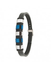 Bracelet steel and leather One Man Show 31812311 One Man Show 65,00 €