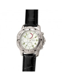 Montre dame Jean Patrick chronographe cadran blanc et vert 15,00€ 15,00€