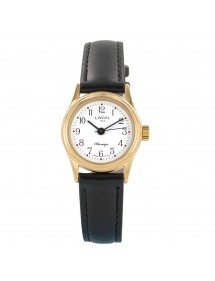 Montre mécanique dame boîtier doré bracelet noir LAVAL 1878 119,00€ 119,00€